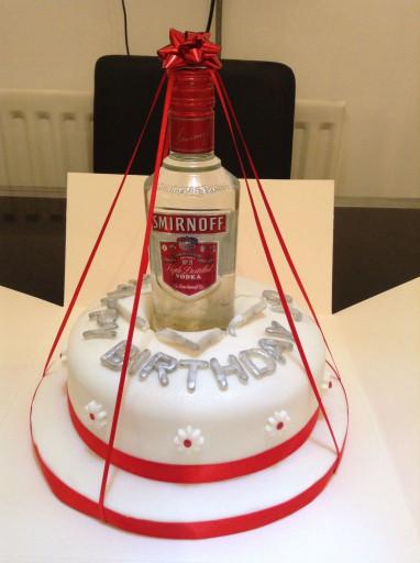 Birthday Cake Vodka  Vodka bottle Birthday cake 21st Cakes