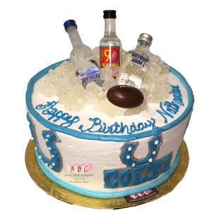 Birthday Cake Vodka  1829 Colts Football Cake topped with Mini Vodka ABC