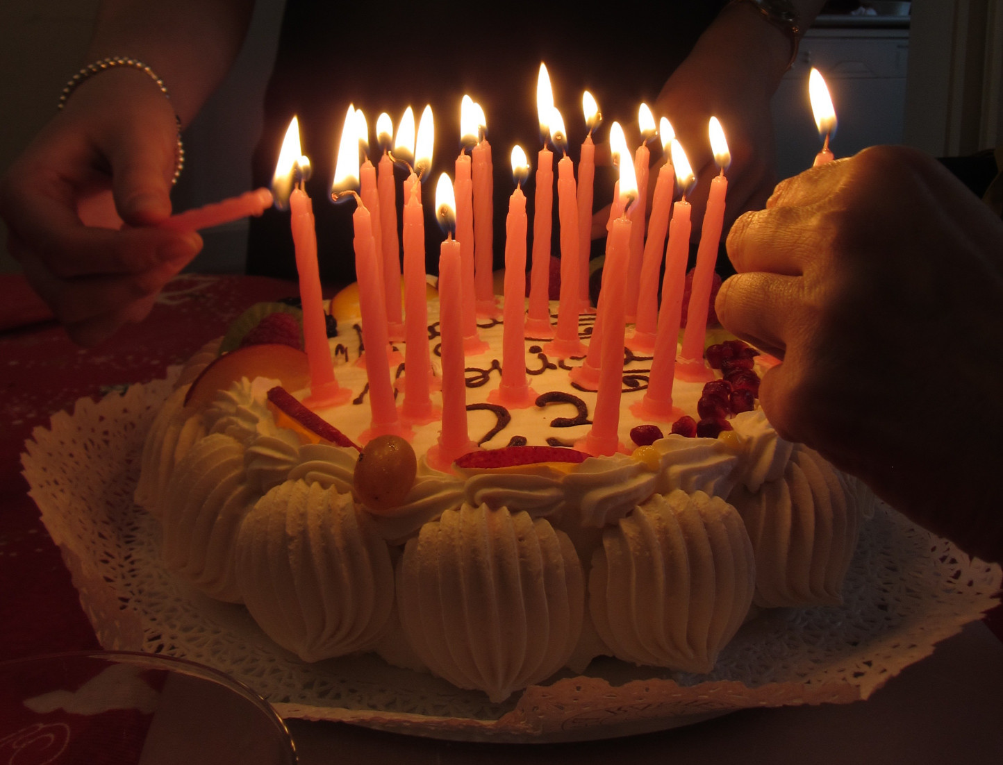 Birthday Cake With Candles  Blowing Out Birthday Candles Makes the Cake Taste Better