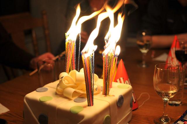 Birthday Cake With Candles  gullar sahir