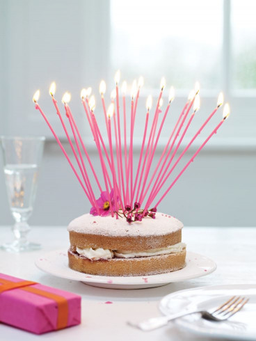 Birthday Cake With Candles  Birthday Cake Hack Using tall candles to make a birthday