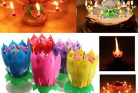 Birthday Cake with Candles Fresh Birthday Candle Lotus Flower Blossom Musical Party Cake