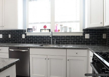 Best 20 Black Kitchen Backsplash - Home Inspiration and ... on Backsplash For Black Granite  id=48576
