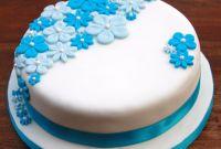 Blue Birthday Cake Best Of Birthday Cake with Blue Flowers – Lovinghomemade