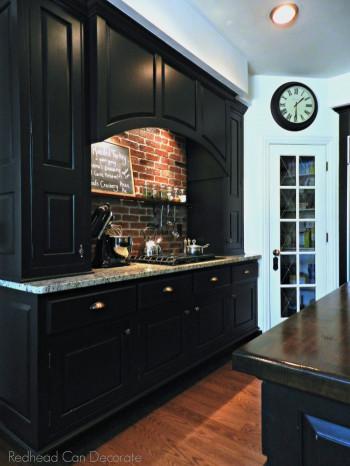 Brick Kitchen Backsplash  DIY Brick Backsplash Redhead Can Decorate