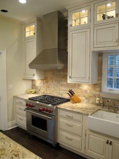 Brick Kitchen Backsplash  nice brick back splash with lincoln park chicago kitchen