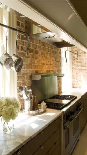 Brick Kitchen Backsplash  Brick Backsplashes Rustic and Full of Charm