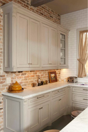 Brick Kitchen Backsplash  30 Super Practical And Really Stylish Brick Kitchen