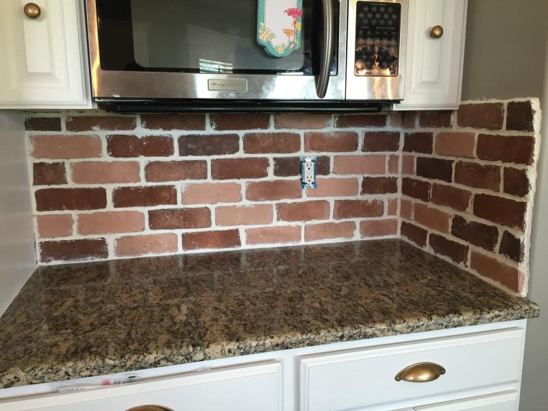 Brick Kitchen Backsplash  Do It Yourself Brick Veneer Backsplash Remington Avenue