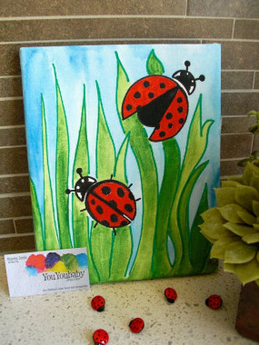 """Canvas Paintings Ideas For Kids  Items similar to 8"""" x 10"""" Original Acrylic painting"""