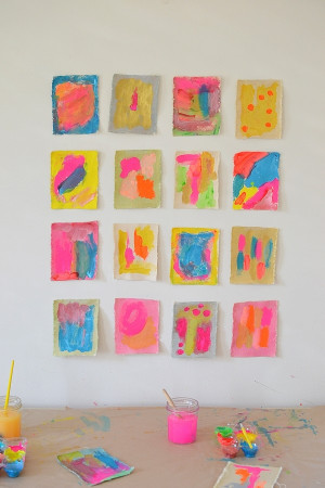 Canvas Paintings Ideas For Kids  Art Canvas Craft Ideas
