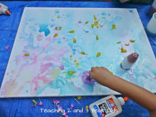 Canvas Paintings Ideas For Kids  Kids Canvas Painting Teaching 2 and 3 Year Olds