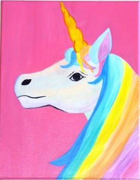 Canvas Paintings Ideas For Kids  rainbow unicorn Rainbow Unicorn