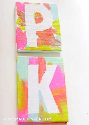 Canvas Paintings Ideas For Kids  Kids Art Ideas Mini Canvas Magnets Homemade Ginger