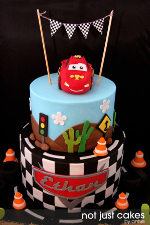 Cars Birthday Cake  Cars Themed Cake For Ethan CakeCentral