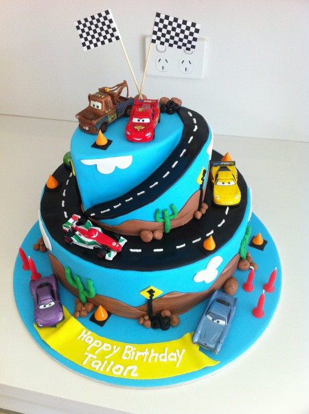 Cars Birthday Cake  Cars 2 Birthday Cake CakeCentral