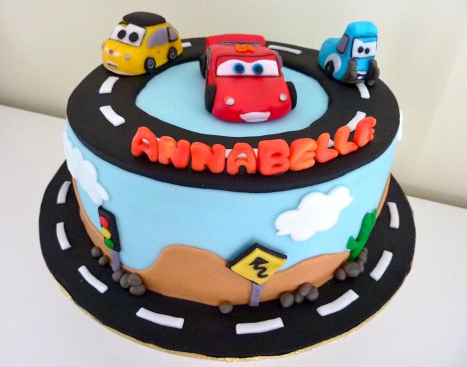 Cars Birthday Cake  Cars birthday cake & cake pops