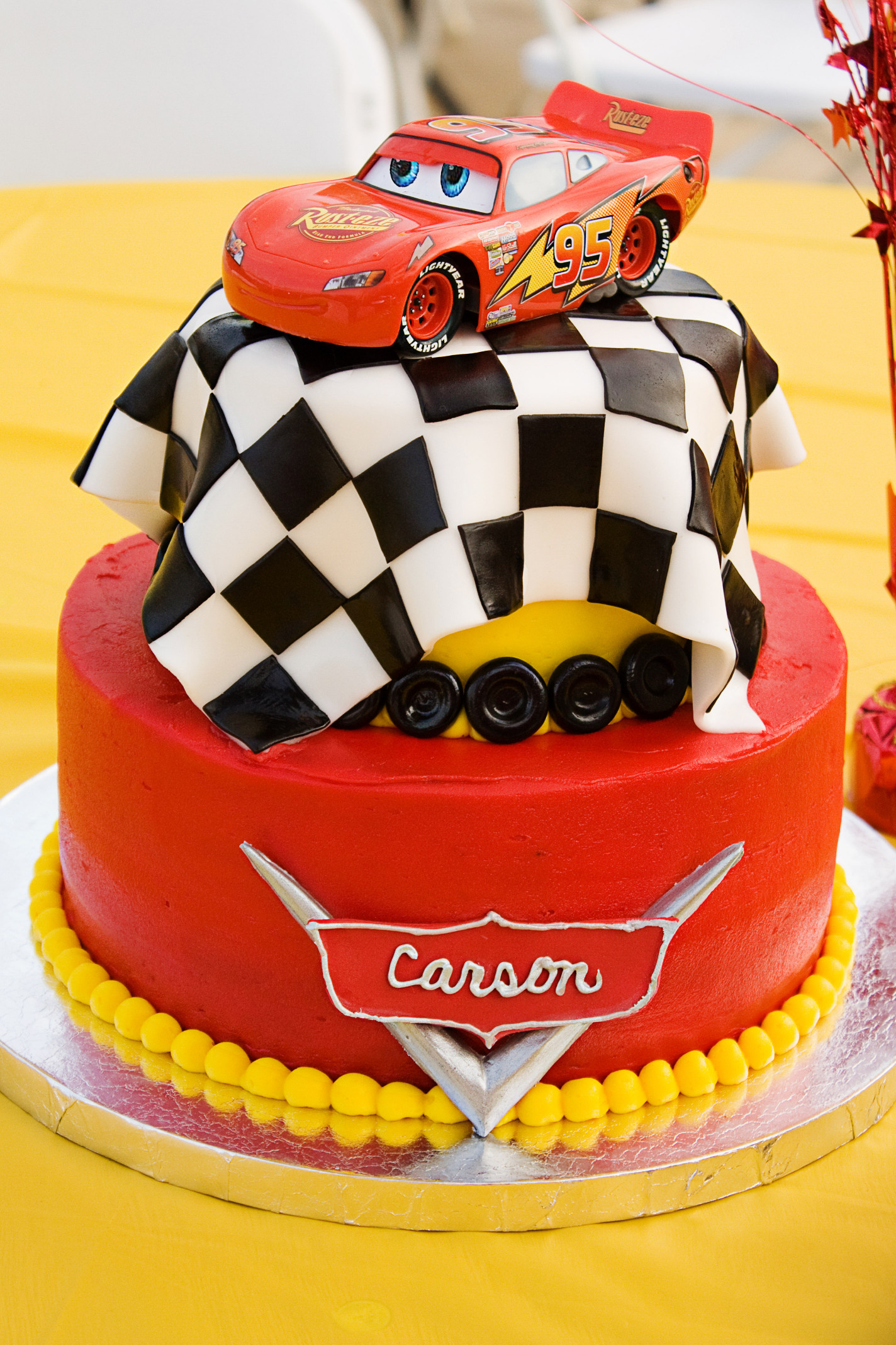 Cars Birthday Cake  Braison bday ideas on Pinterest