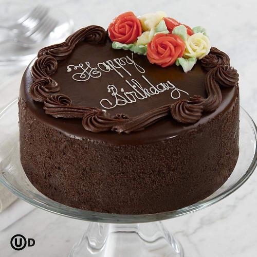 """Chocolate Birthday Cake  Birthday Cake 6"""" Three Layer Chocolate Happy Birthday Cake"""