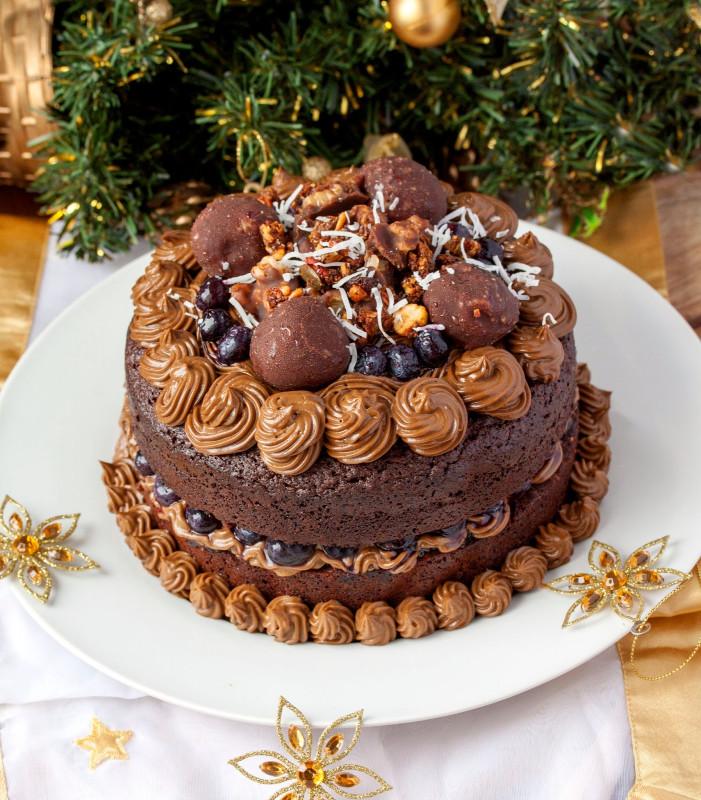 Chocolate Birthday Cake  Chocolate Brownie Layered Birthday Cake another epic