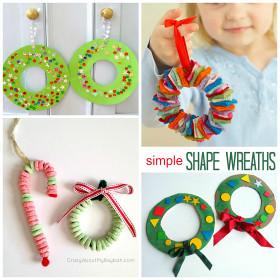 Christmas Craft Ideas For Kids  Christmas Wreath Craft Ideas for Kids Crafty Morning
