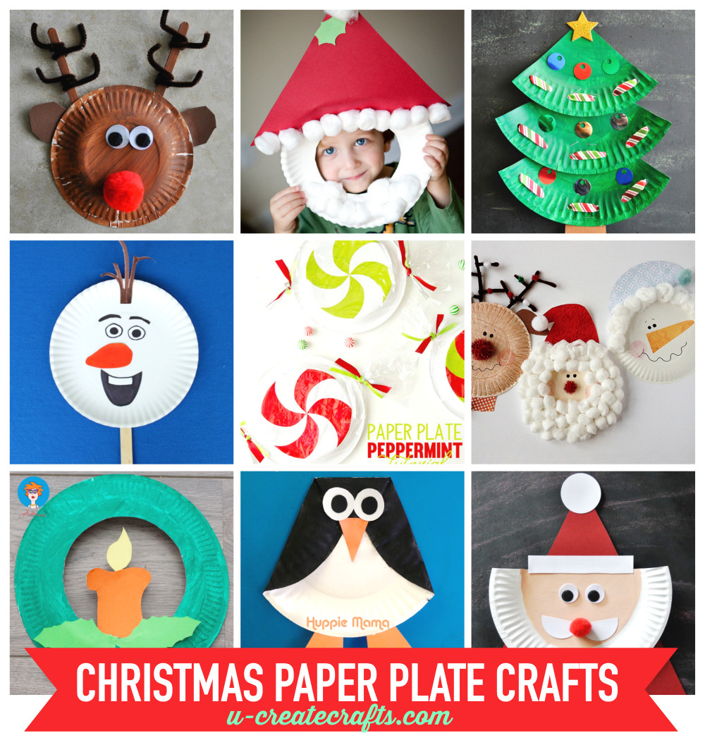 Christmas Craft Ideas For Kids  Paper Plate Christmas Crafts U Create