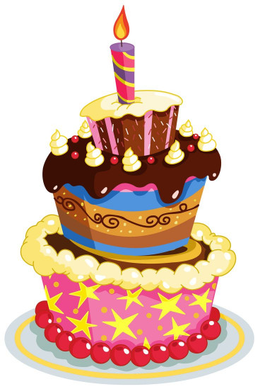 Clipart Birthday Cake  Colorful Birthday Cake PNG Clipart