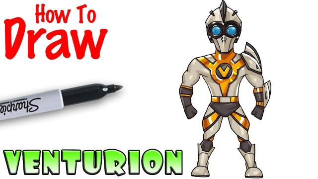Cool Kids Art  How to Draw Venturion