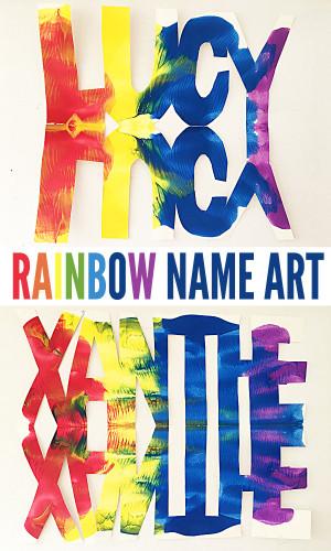 Cool Kids Art  Super Cool Kids Art Ideas Name Rainbows