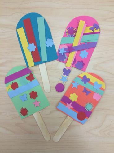 Craft Activities For Kids  Popsicle Summer Art Craft for Preschoolers Kindergarten