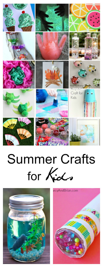 Craft Activities For Kids  40 Creative Summer Crafts for Kids That Are Really Fun