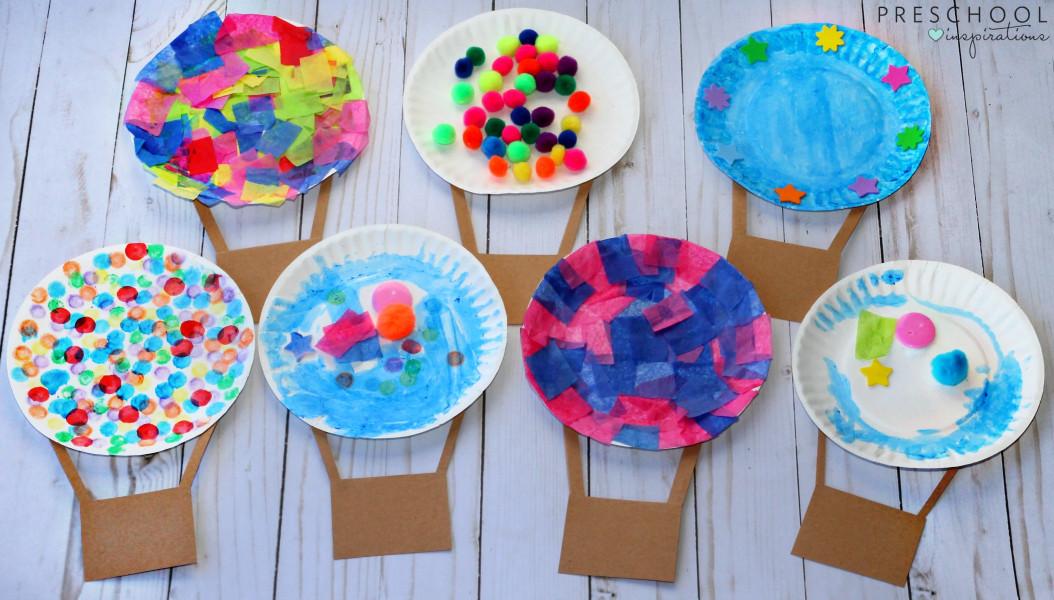 Craft Activities For Kids  Hot Air Balloon Process Art Activity Preschool Inspirations