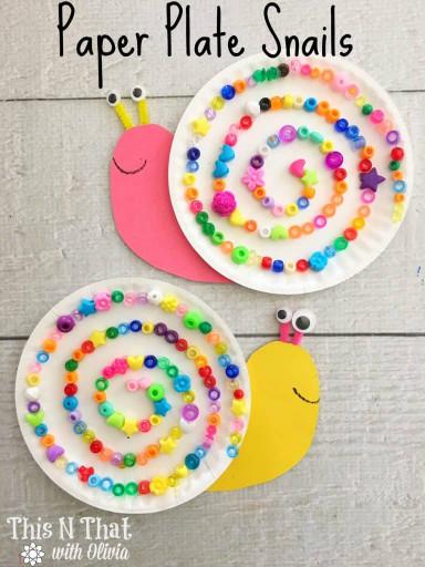 Craft For Kids  Paper Plate Snails Craft for Kids Snail Craft DIY Kids