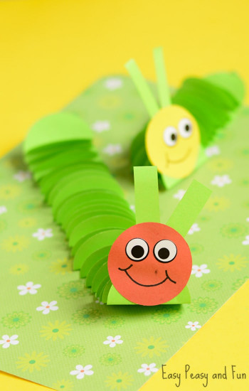 Craft for Kids Beautiful Paper Caterpillar Craft Paper Circles Crafts Easy