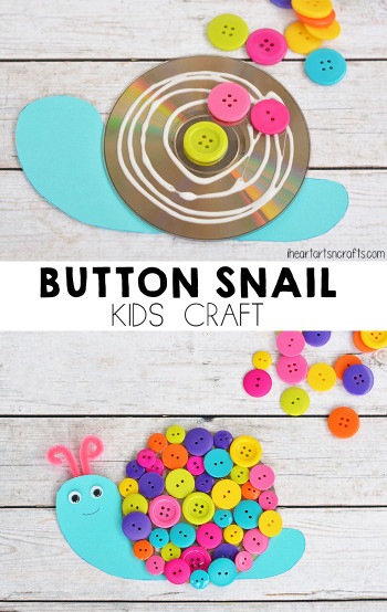 Craft For Kids  Button Snail Craft For Kids I Heart Arts n Crafts