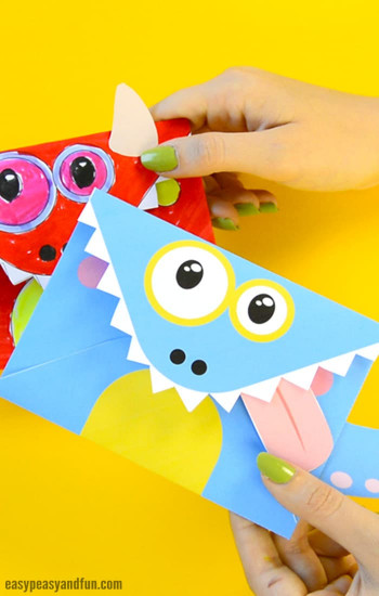 Craft For Kids  Printable Monster Envelopes Easy Peasy and Fun