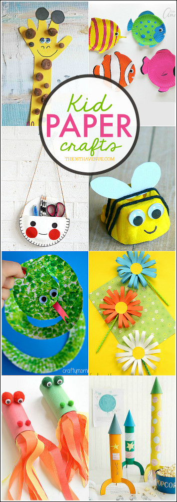Craft Ideas For Kids With Paper  Kid Paper Crafts The 36th AVENUE
