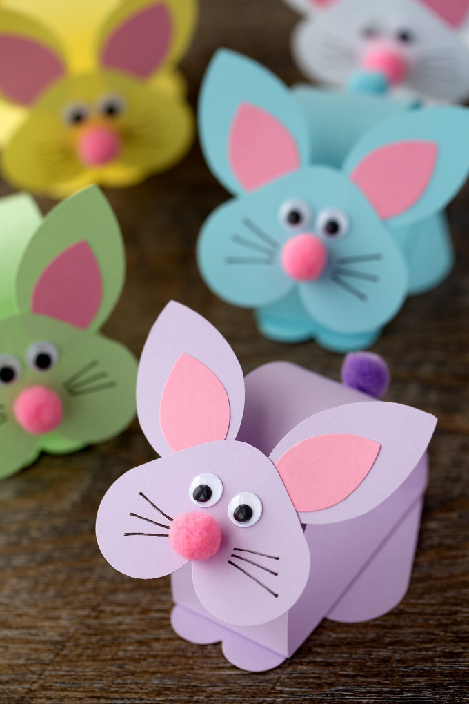 Craft Ideas For Kids With Paper  Paper Bobble Head Bunny Craft for Kids