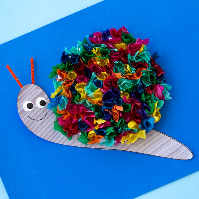 Craft Ideas For Kids With Paper  15 Interesting Crafts Made With Tissue Paper