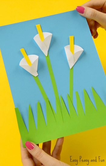Craft Ideas For Kids With Paper  Calla Lily Paper Craft Flower Craft Ideas Easy Peasy