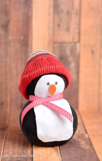 Crafts For Kids  No Sew Sock Penguin Craft Easy Peasy and Fun