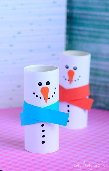 Crafts For Kids  Paper Roll Snowman Craft Winter Crafts for Kids Easy