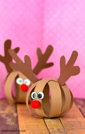 Crafts For Kids  Paper Ball Reindeer Craft Easy Peasy and Fun