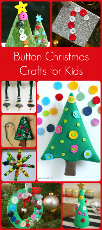 Crafts For Kids To Make  Button Christmas Crafts for Kids to Make