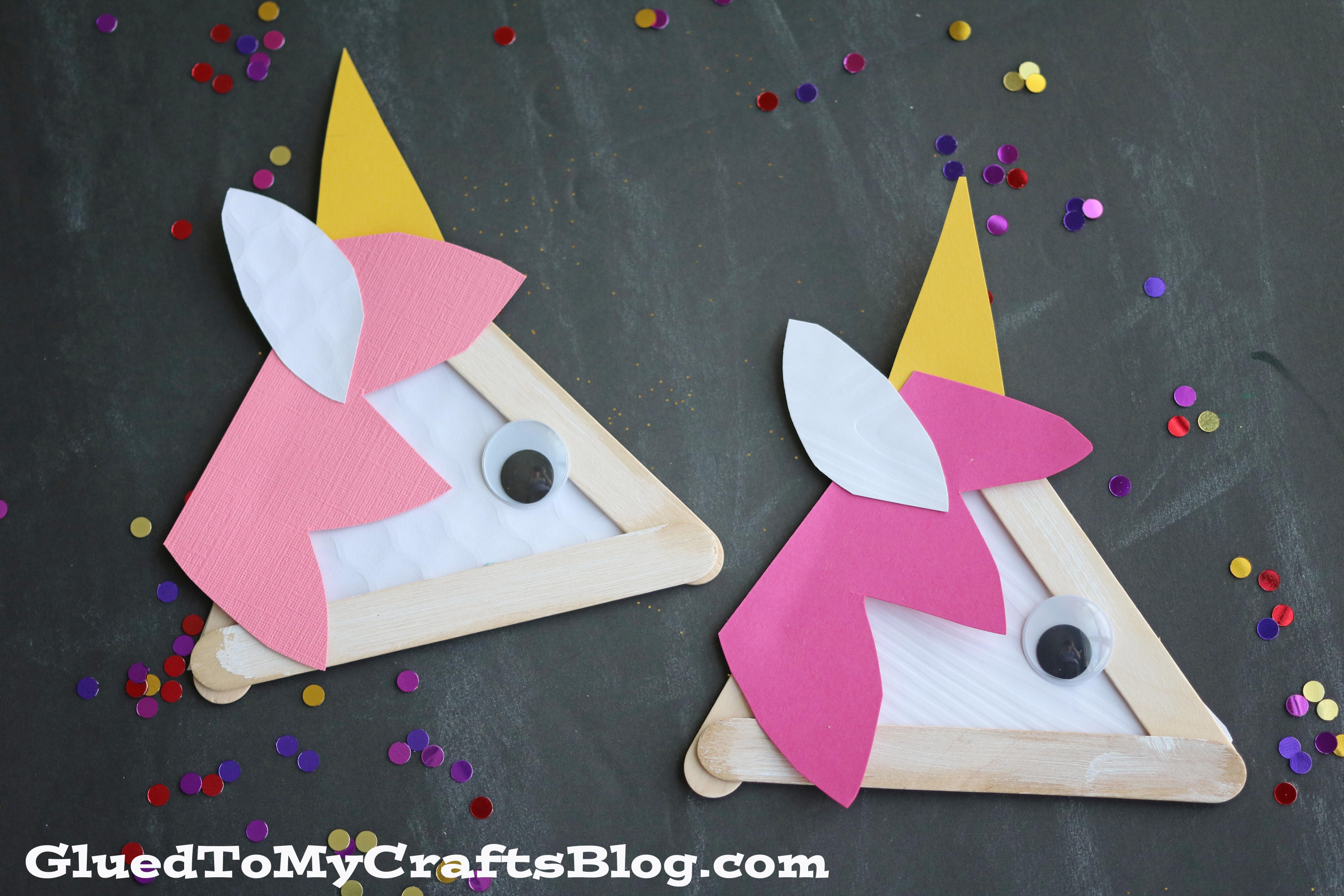 Crafts With Kids  Popsicle Stick Unicorns Kid Craft Glued To My Crafts