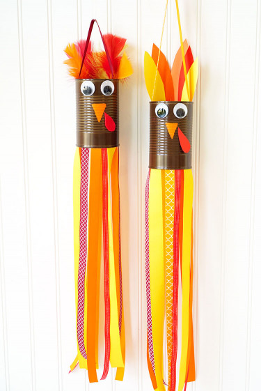 Crafts With Kids  Thanksgiving Kids Craft Turkey Windsocks Happiness is