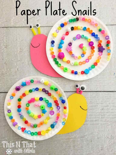 Crafts With Kids  Paper Plate Snails Craft Animals