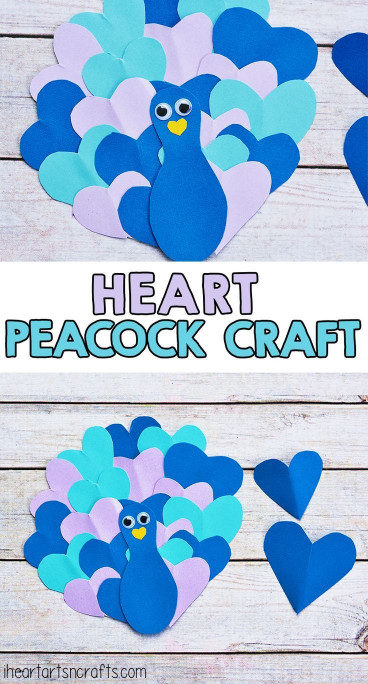 Crafts With Kids  Heart Peacock Craft For Kids Kids Crafts