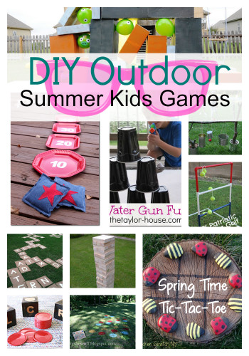DIY Activities For Kids  DIY Outdoor Summer Kids Games s and