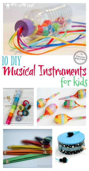 DIY Activities For Kids  10 DIY Musical Instruments for Kids